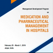 International Training Program on Medication and Pharmaceutical Management in Hospitals from February 25 - March 1, 2019